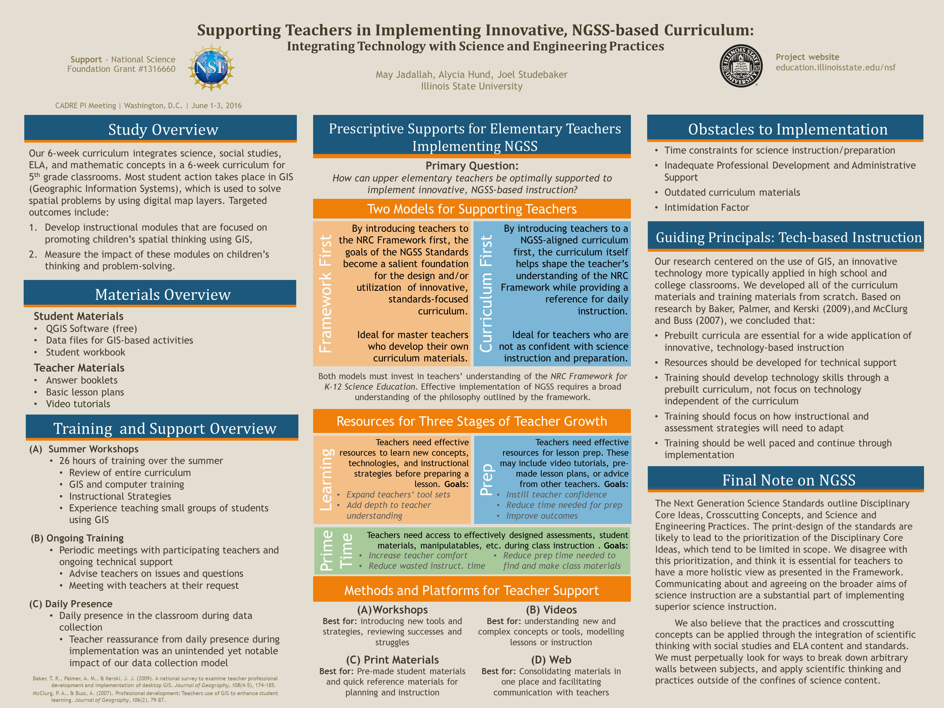 Supporting Teachers In Implementing Innovative Ngss Based