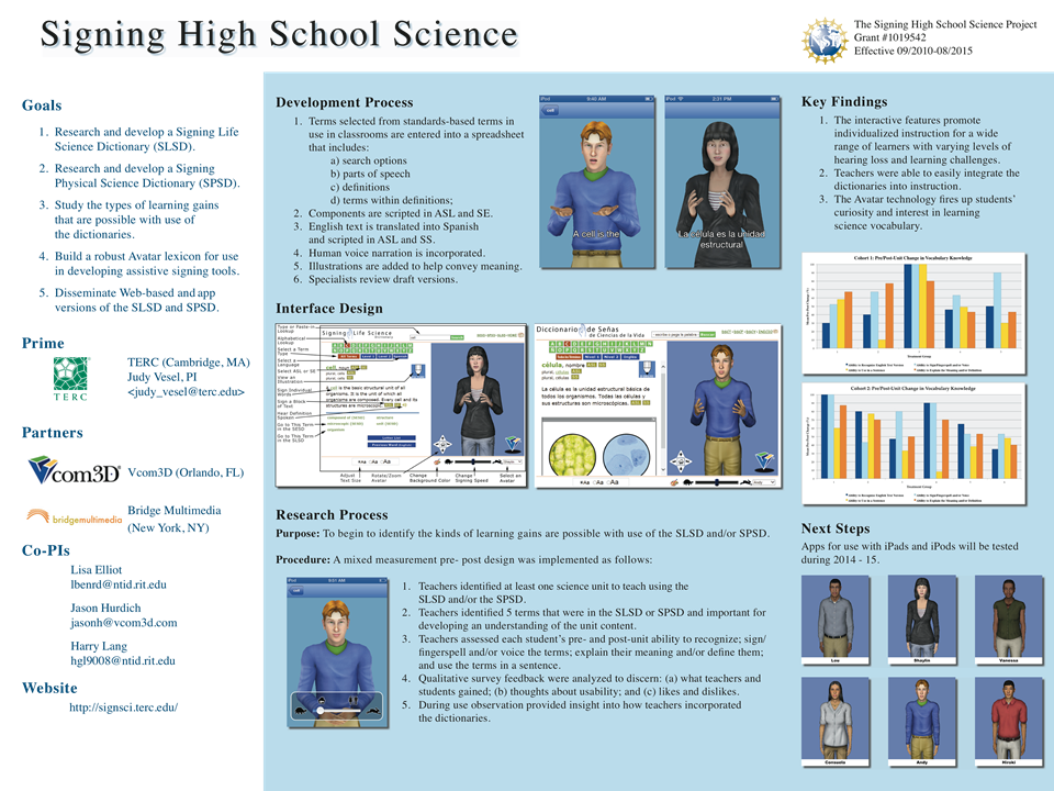 Signing High School Science   CADRE